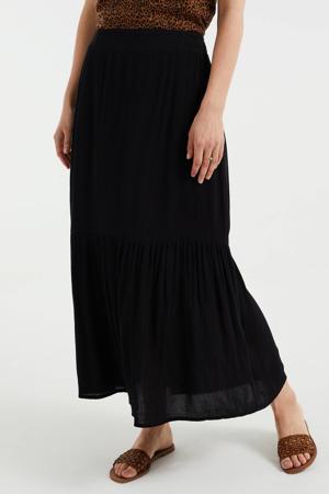 maxi rok met plooien zwart