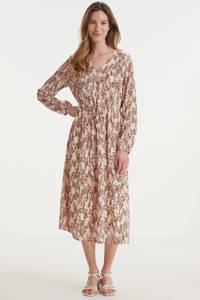 MSCH Copenhagen jurk Camly Rikkelie van gerecycled polyester lichtbruin, Lichtbruin