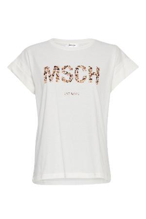 T-shirt Alva met logo wit