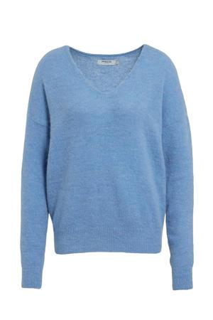 fijngebreide trui Femme met wol blauw
