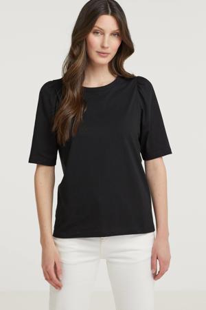basic T-shirt Mo Alva zwart