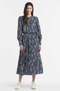 MSCH Copenhagen gebloemde blouse Amaya Raye donkerblauw/wit, Donkerblauw/wit