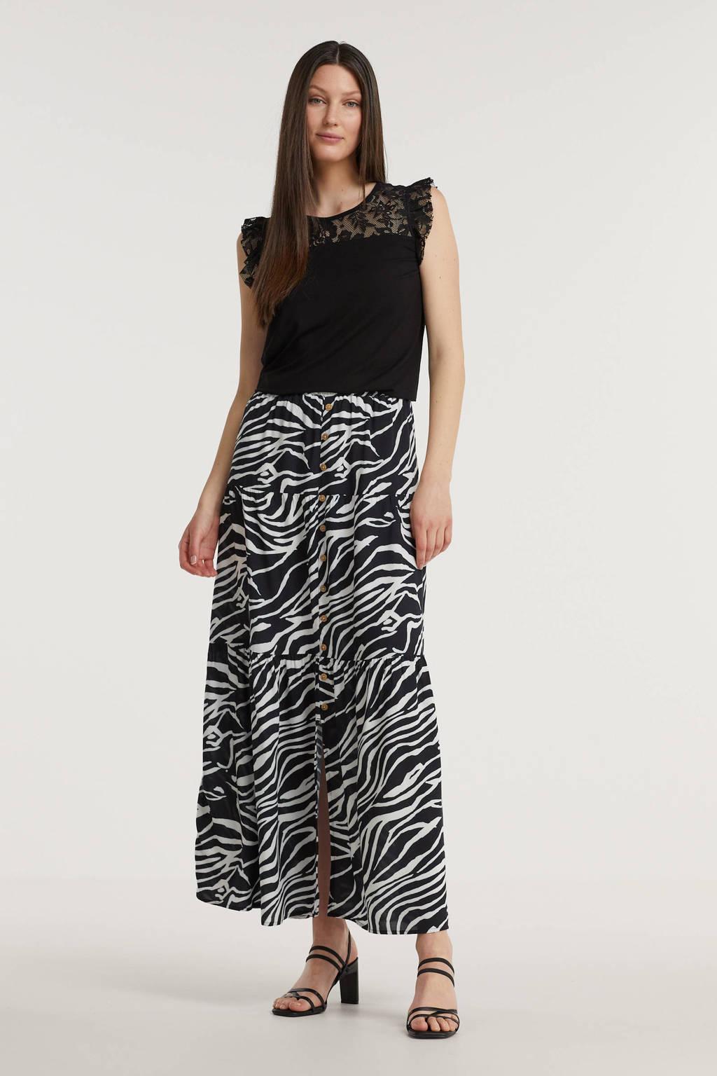 Imagine rok met zebraprint zwart/wit, Zwart/wit