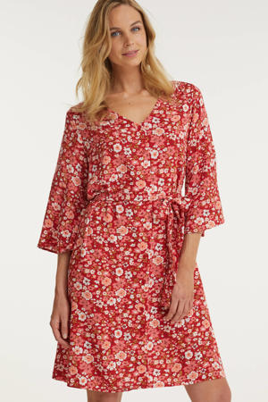 jurk met bloemenprint rood/multi