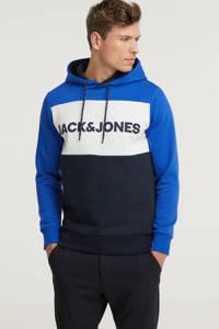 JACK & JONES ESSENTIALS hoodie turquoise/marine/wit, Turquoise/marine/wit