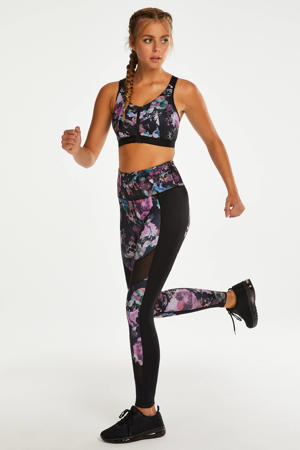 sportbh The Pro Level 3 met ritssluiting zwart/roze