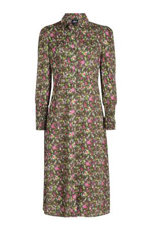 gebloemde blousejurk Pipa donkergroen/roze