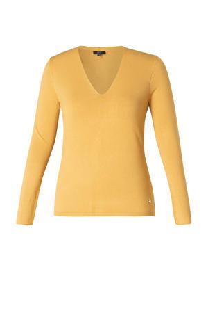 fijngebreide trui Giulietta geel