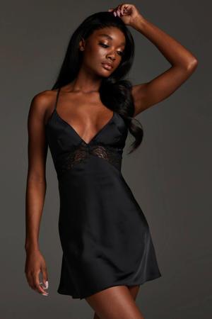slipdress Nina zwart