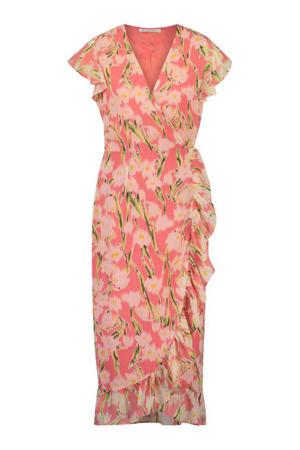 gebloemde jurk Rosy roze