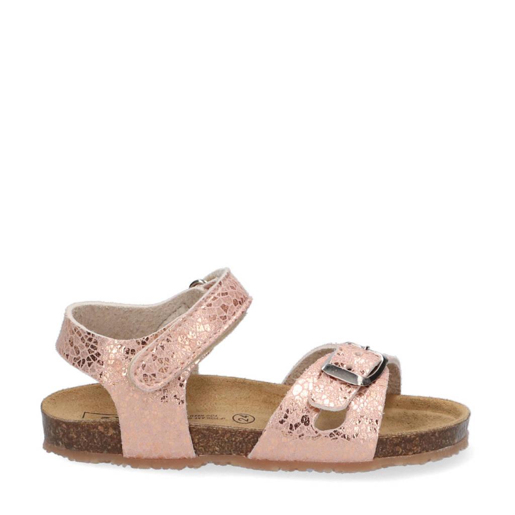 Est. 1842   sandalen met print roségoud