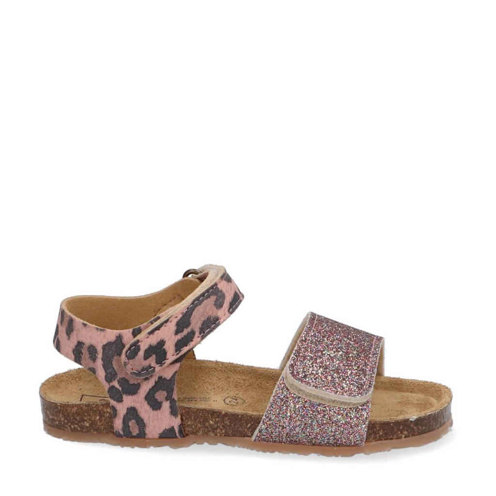 Est. 1842   sandalen met panterprint roze, Roze