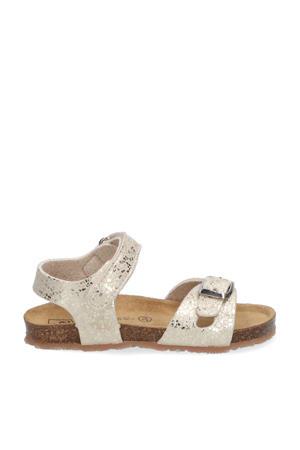 sandalen met print goud
