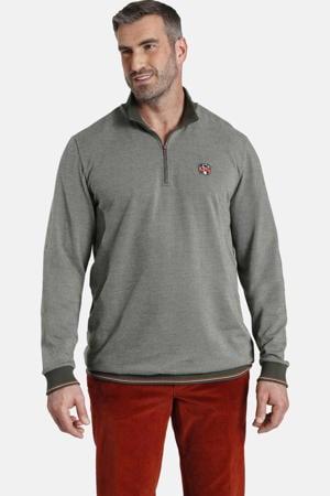 sweater EARL BOBBY Plus Size olijfgroen