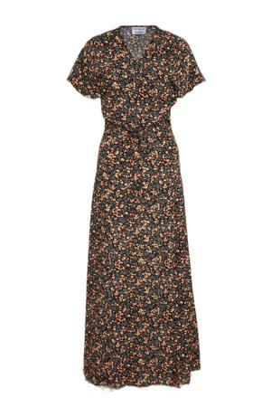 gebloemde jurk Rose Garden zwart