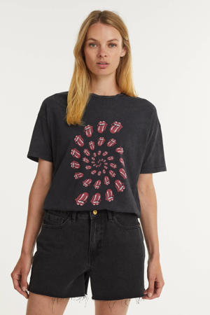T-shirt Rolling Stones Twister van biologisch katoen donkergrijs