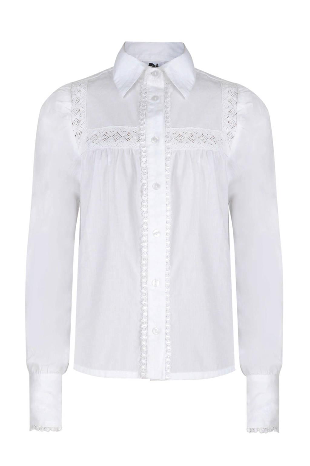 Jill & Mitch by Shoeby blouse Elva met open detail ecru, Ecru