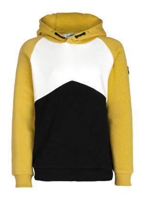 hoodie Alexander mosterdgeel/zwart/wit