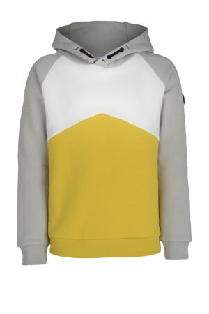 hoodie Alexander lichtgrijs/geel/wit