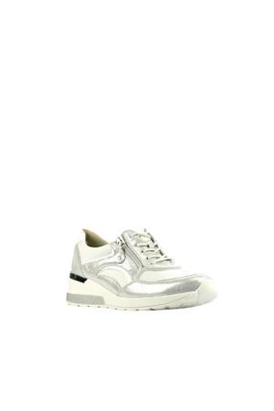 939011 comfort leren veterschoenen wit