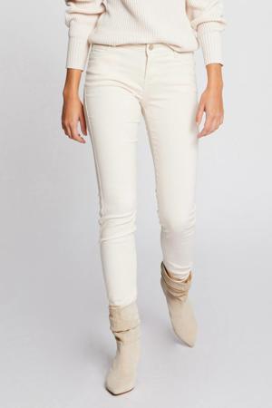 low waist skinny jeans ecru