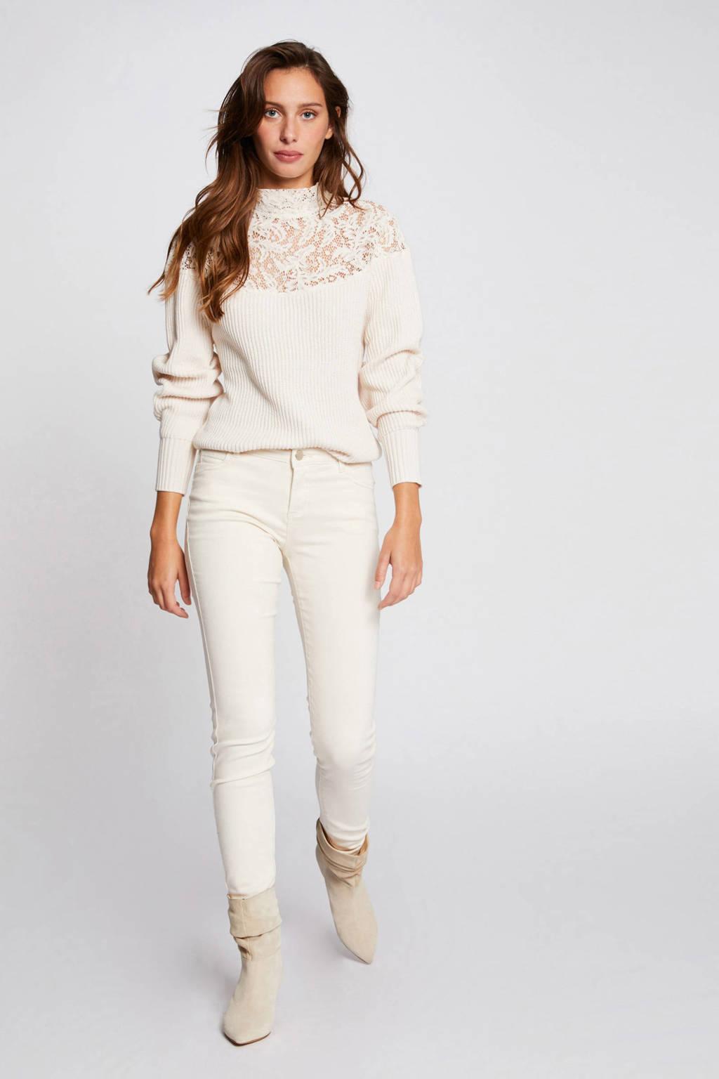 Morgan low waist skinny jeans ecru, Ecru