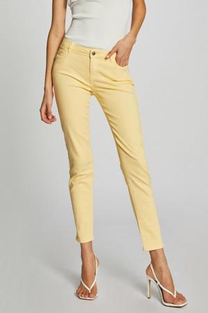 low waist skinny jeans lichtgeel
