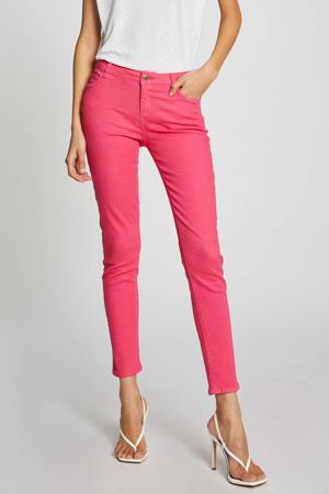low waist skinny jeans fuchsia
