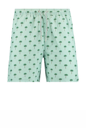 zwemshort Arizona met all over print lichtblauw