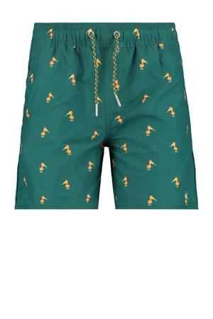 zwemshort Wilu met all over print groen