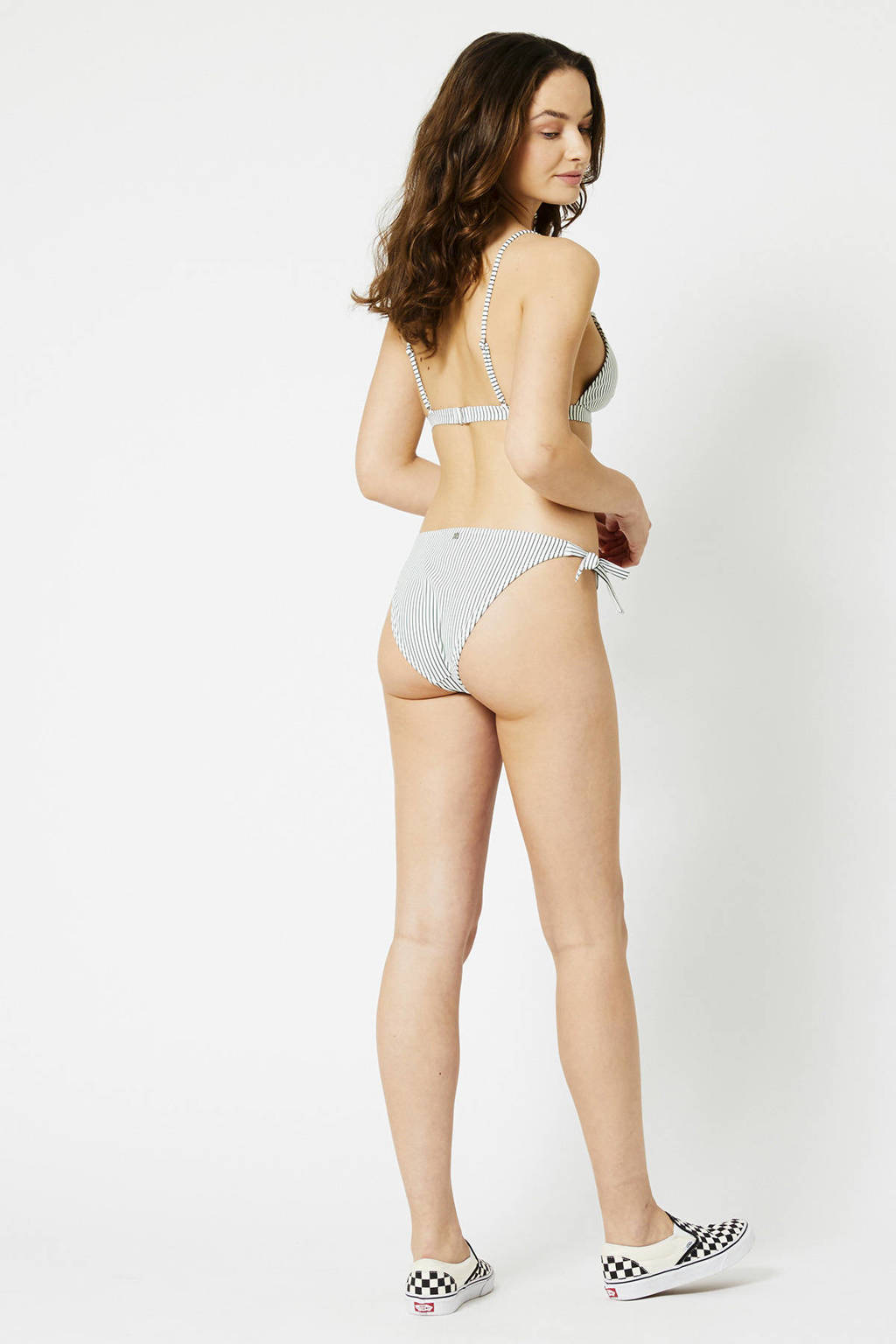 America Today gestreept strik bikinibroekje Audrey groen/wit, Groen/wit