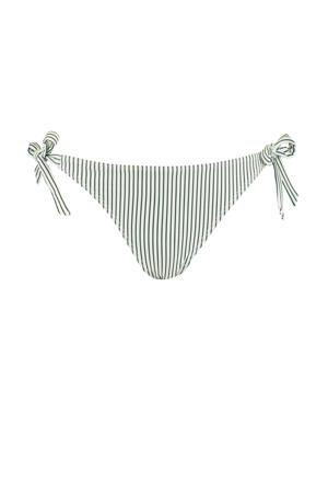 gestreept strik bikinibroekje Audrey groen/wit