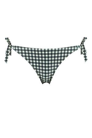 geruit strik bikinibroekje Audrey zwart/wit