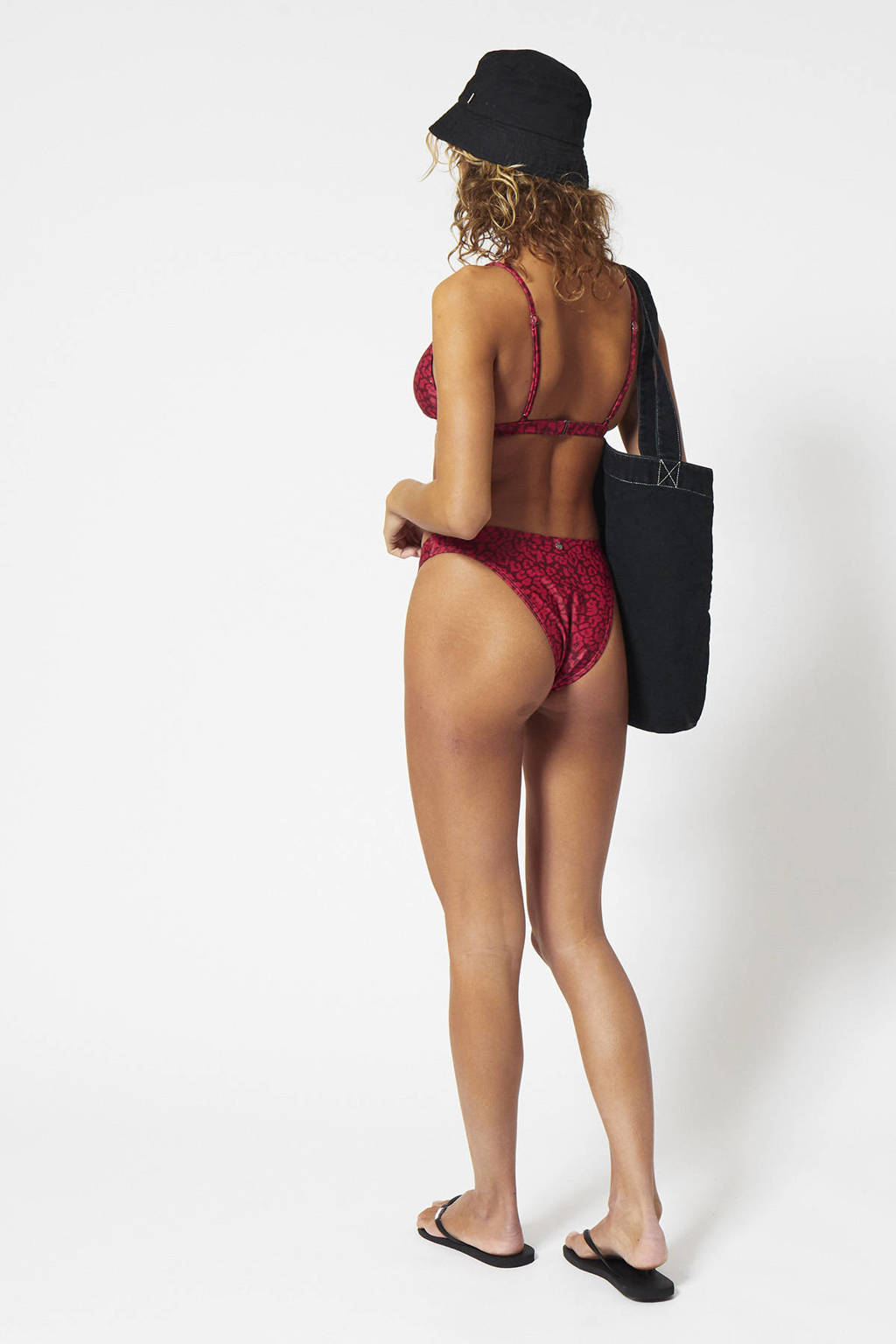 America Today gebloemd bikinibroekje Audrey rood/donkerrood, Rood/donkerrood
