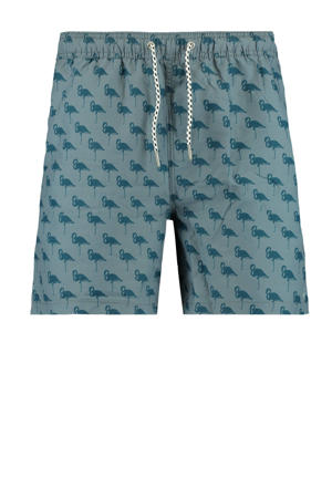 zwemshort Arizona met all over print grijs