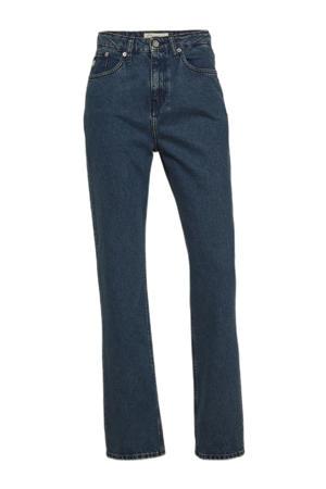 high waist straight fit jeans Relax Rose dark denim