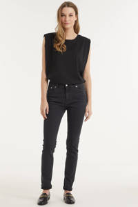 Mud Jeans high waist skinny jeans Skinny Hazen stone black, Stone black