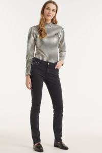 Mud Jeans high waist straight fit jeans Regular Swan stone black, Stone black