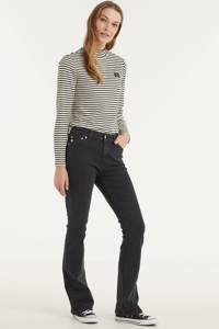 Mud Jeans high waist flared jeans Flared Hazen stone black, Stone black