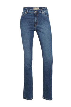 high waist straight fit jeans Regular Swan authentic indigo