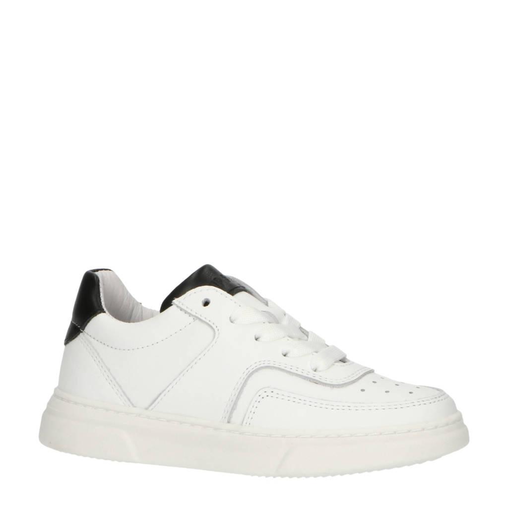 Hip H1706  leren sneakers wit/zwart, Wit/zwart