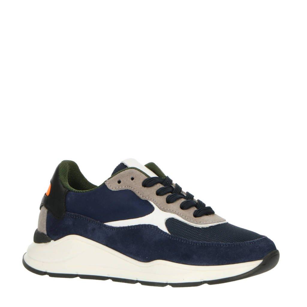 Hip H1700  suède sneakers donkerblauw, Donkerblauw