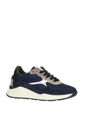 H1700  suède sneakers donkerblauw