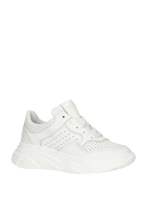 H1760  leren chunky sneakers wit