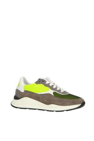 H1700  suède sneakers grijs/multi