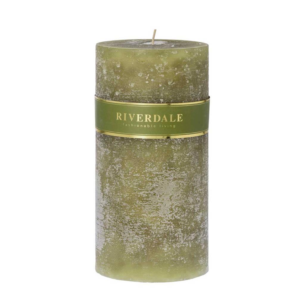 Riverdale kaars Pillar (10x20 cm), Groen