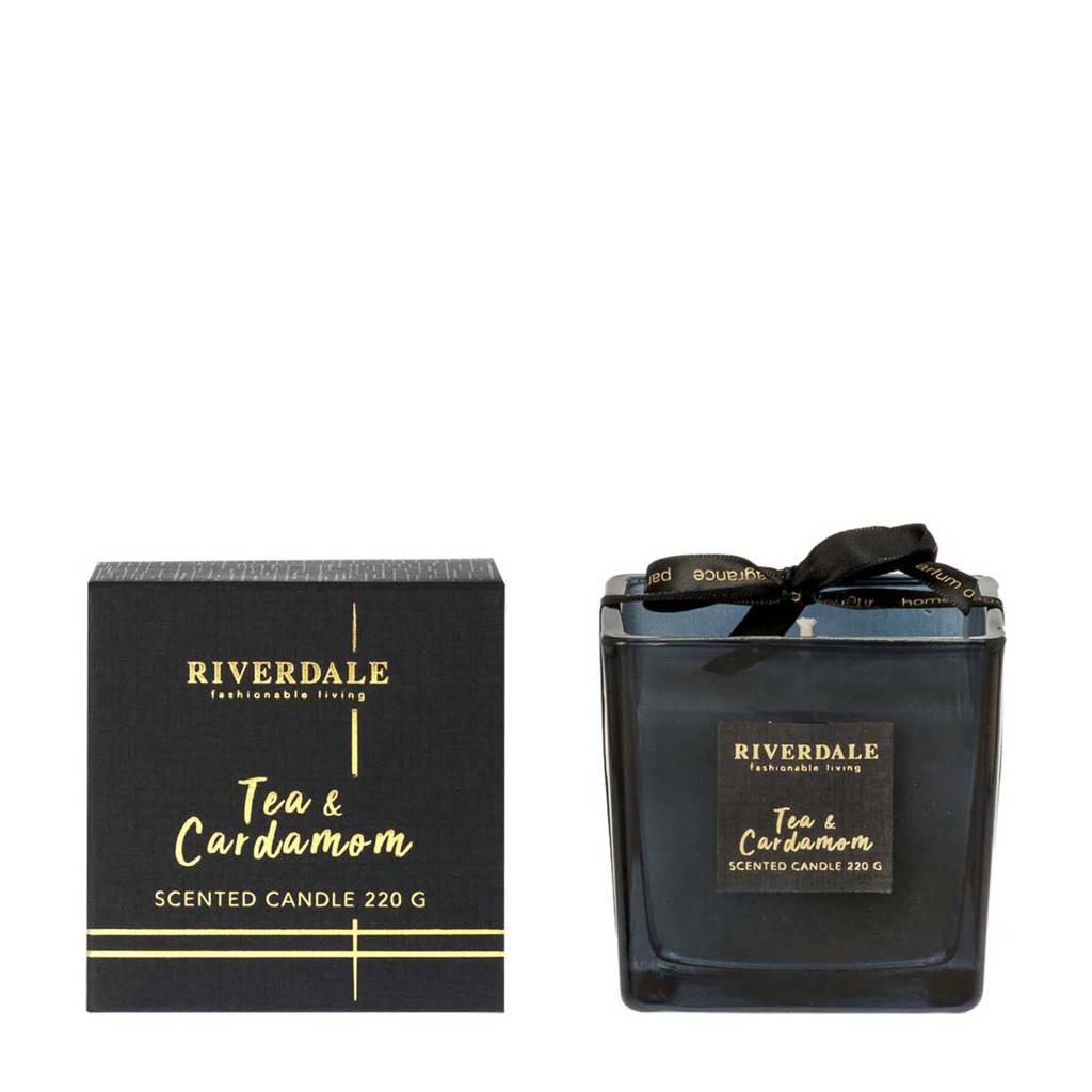 Riverdale geurkaars Deluxe  - Tea & Cardamom, Zwart