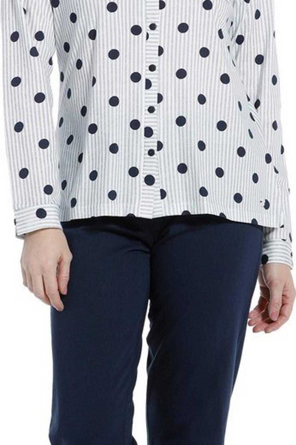 Pastunette pyjama met stippen donkerblauw/grijs, Donkerblauw/grijs