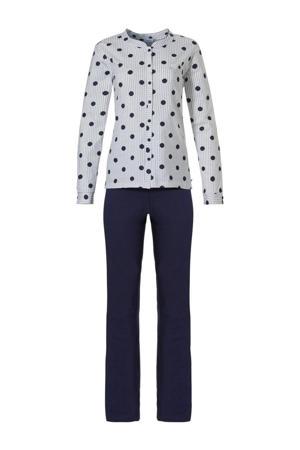 pyjama met stippen donkerblauw/grijs