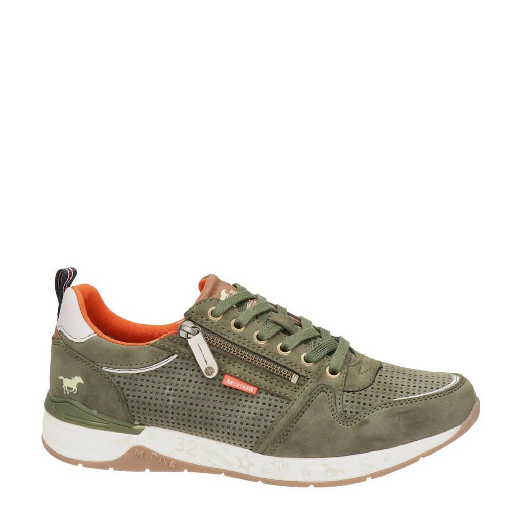 Mustang   sneakers kaki, Kaki/groen
